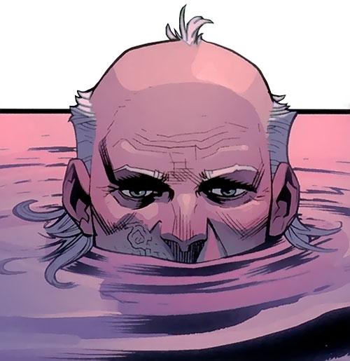 Cecil Stedman (Invincible Comics) in a bath