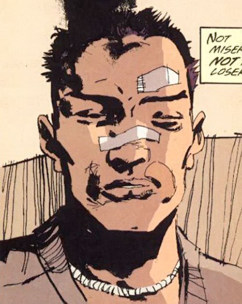 Cedric (Fight for Tomorrow) (DC Comics) battered face closeup