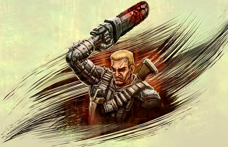Chainsaw Warrior colour artwork