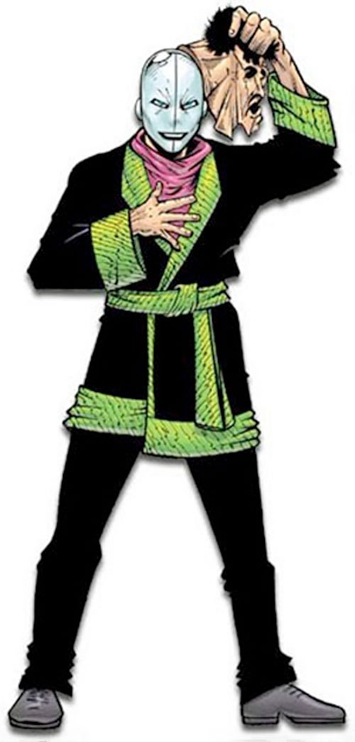The Chameleon (Spider-Man enemy) (Marvel Comics) removing his mask