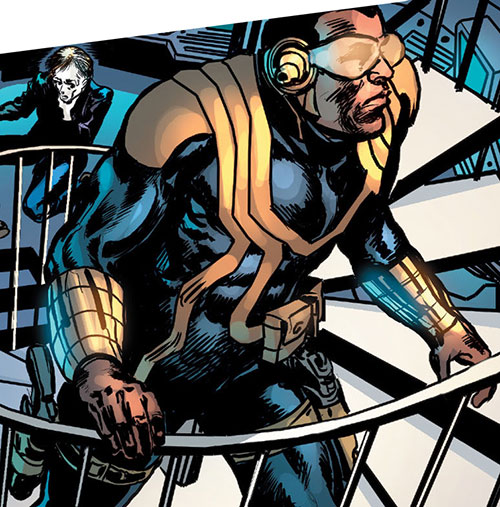 Royal and Charles Williams (Astro City Dark Age) (Vengeance Brothers) battle armor and spiral stairs