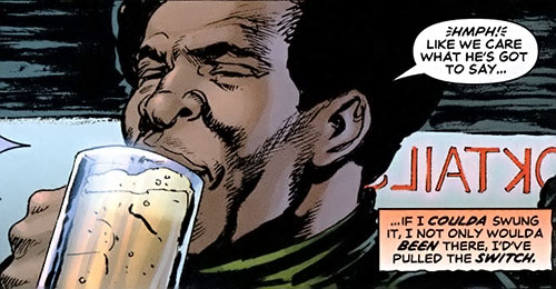 Royal and Charles Williams (Astro City Dark Age) (Vengeance Brothers) drinking beer