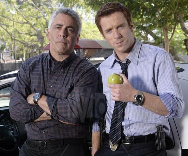 Charlie Crews (Damian Lewis) with Ted Earley (Adam Arkin)