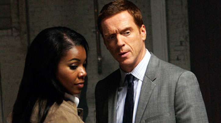 Charlie Crews (Damian Lewis) and Jane Seever (Gabrielle Union)