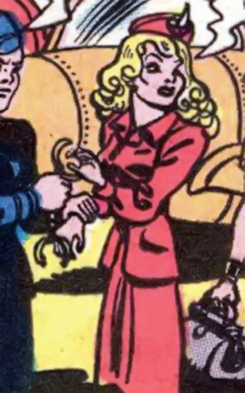 Cheetah of Earth-2 (Wonder Woman enemy) (Golden Age DC Comics) - Priscilla Rich in a red suit