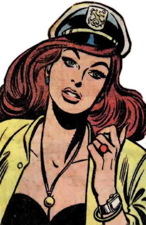 Deborah Domaine (Wonder Woman character) (DC Comics) sailing her yacht