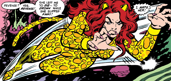 The Cheetah (DC Comics) (Debbie Domaine) leaps in