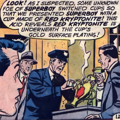 Chief Douglas Parker (Superboy character) exposing kryptonite