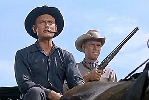 Chris Larabee Adams (Yul Brynner in the Magnificent Seven) and Steve McQueen