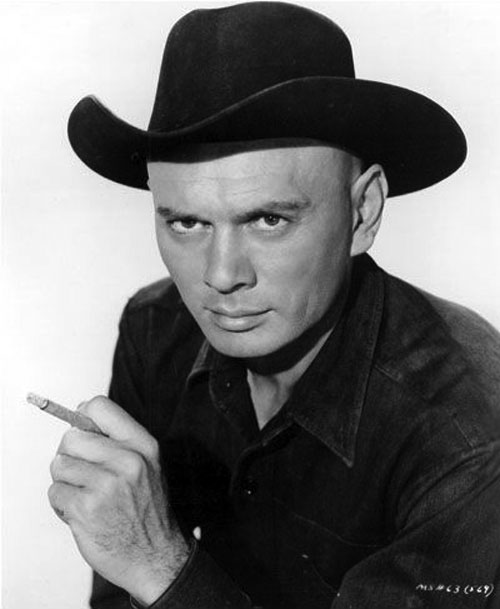 Chris Larabee Adams (Yul Brynner in the Magnificent Seven) B&W portrait