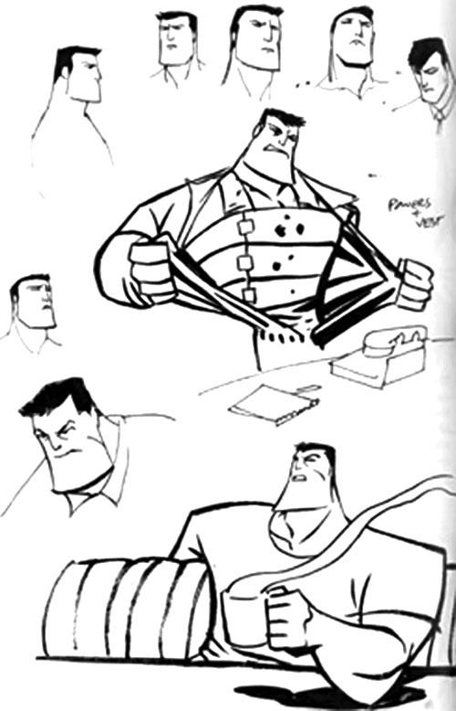 Christian Walker (Powers Comics) design sketches
