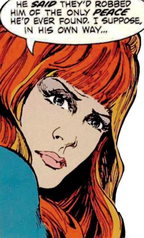Christine St. Clair (Manhunter DC Comics) closeup