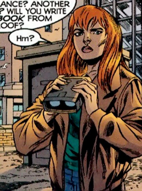 Christine St. Clair (Manhunter DC Comics) with binoculars
