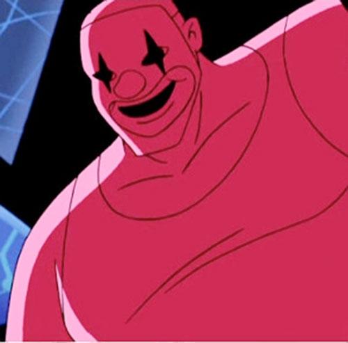 Chucko (Batman Beyond enemy) (DC Comics) closeup in red lighting