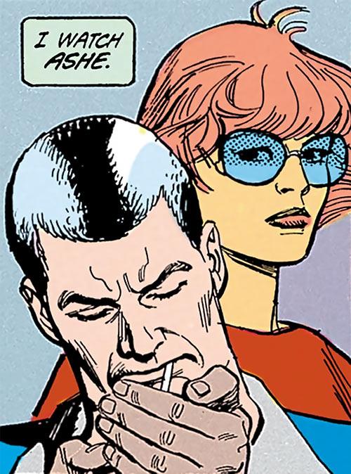 Cinder and Ashe (DC Comics) faces closeup