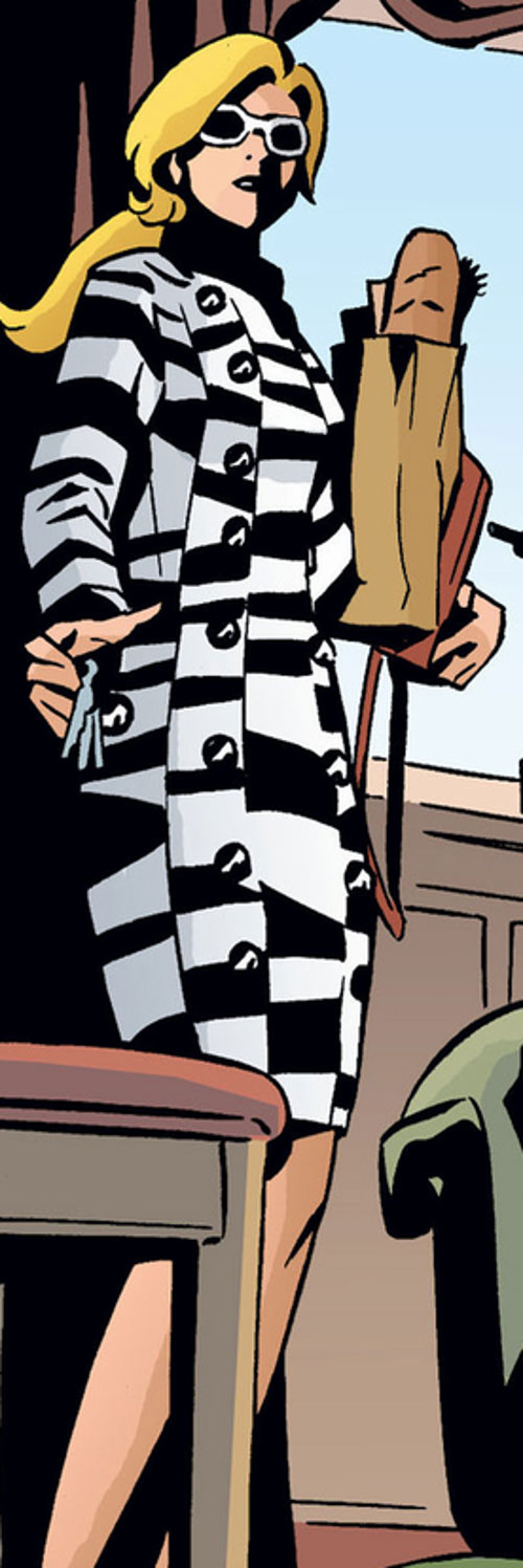 Cinderella of the Fables (DC Comics) in a checkered coat
