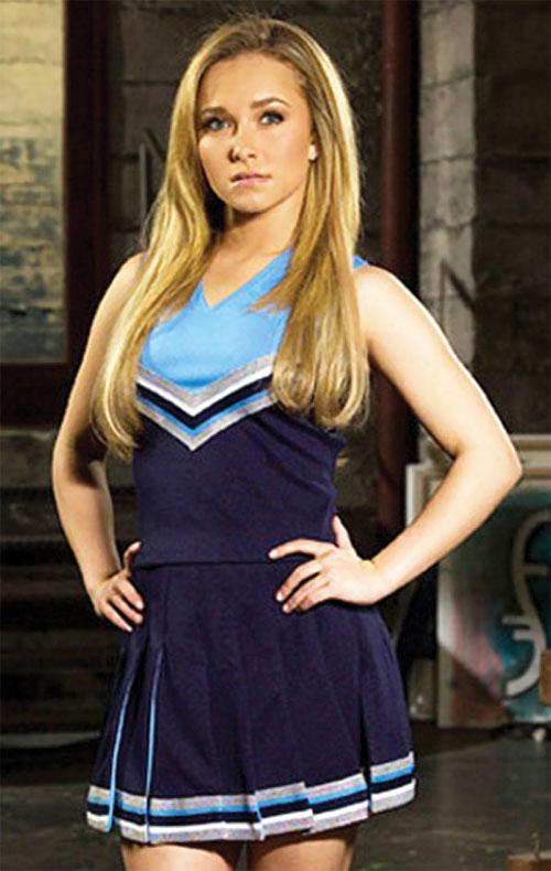 Claire Bennet (Hayden Panetierre in Heroes) in blue uniform