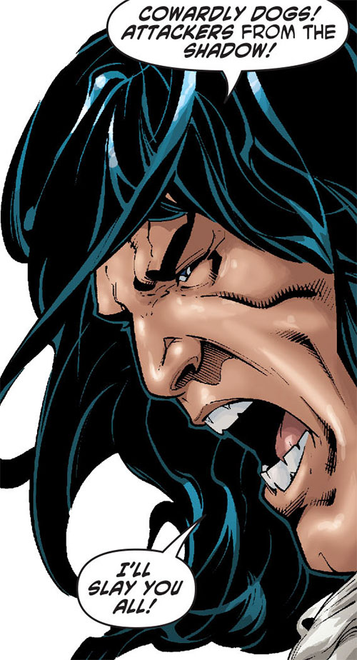 Claw the Unconquered (DC Comics) yelling face closeup
