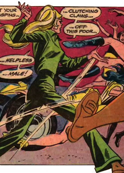 Cleo Starr (Batman character) (DC Comics) in a green 1960s ensemble