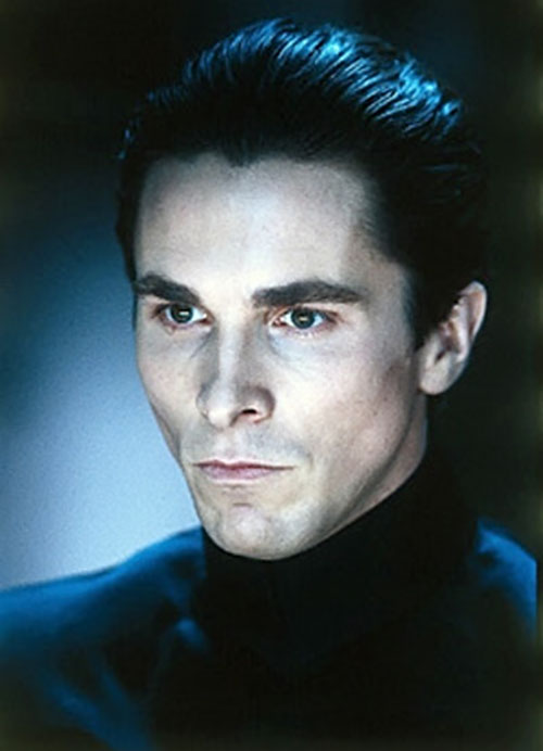 John Preston (Christian Bale in Equilibrium) face closeup