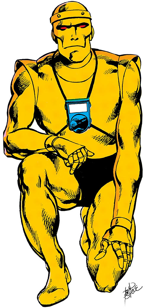 Cliff Steele of the Doom Patrol (traditional Robotman body)