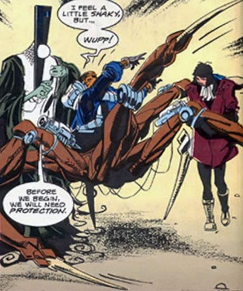 Cliff Steele of the Doom Patrol (robot spider centaur body)