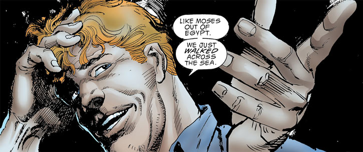 Cluemaster - DC Comics - Batman / Robin foe - Joking face closeup