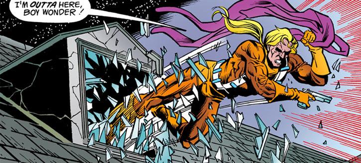 Cluemaster - DC Comics - Batman / Robin foe - Crashing through window