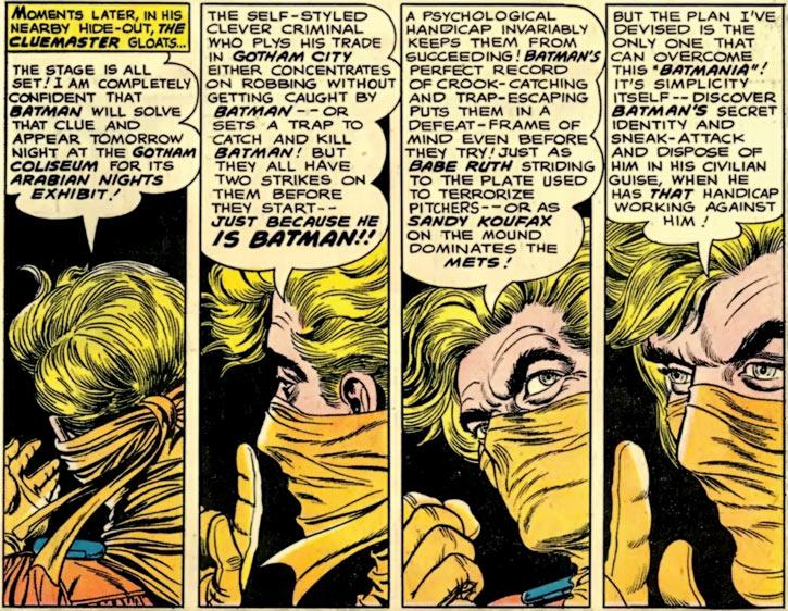 Cluemaster (DC Comics) (Batman villain) (Early) big rant