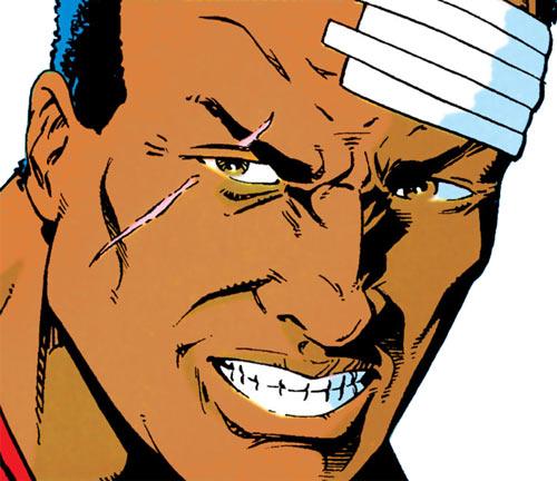 Clyde Rawlins (Robin character) (DC Comics) face closeup