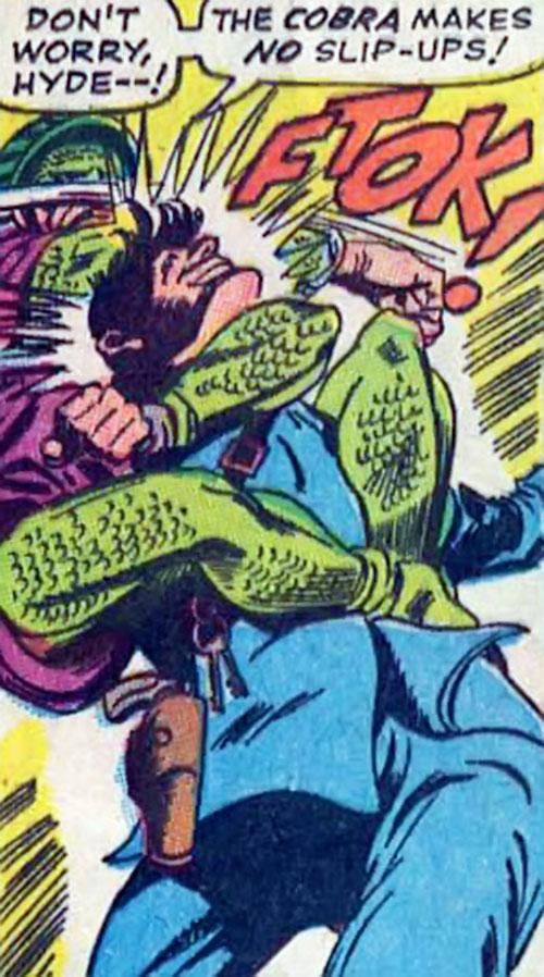 Cobra (Marvel Comics) taking a guard out