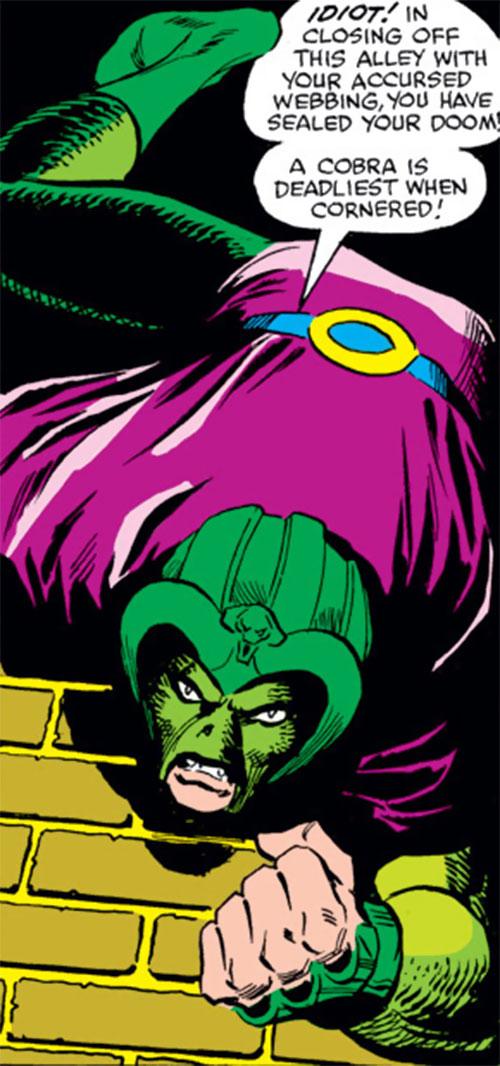 Cobra (Marvel Comics) upside down on a wall