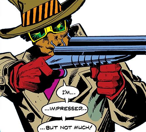 Cockroach Hamilton (Marvel Comics) (Luke Cage enemy) aiming his shotgun