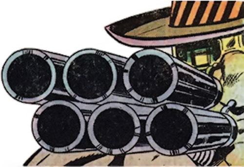Cockroach Hamilton (Marvel Comics) (Luke Cage enemy) shotgun closeup