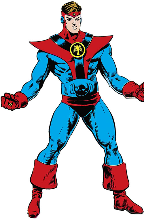 Colossal Boy of the Legion of Super-Heroes (pre-boot DC Comics) in his classic uniform
