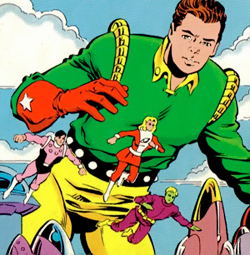 Colossal Boy of the Legion of Super-Heroes (pre-boot DC Comics) in the green and yellow uniform