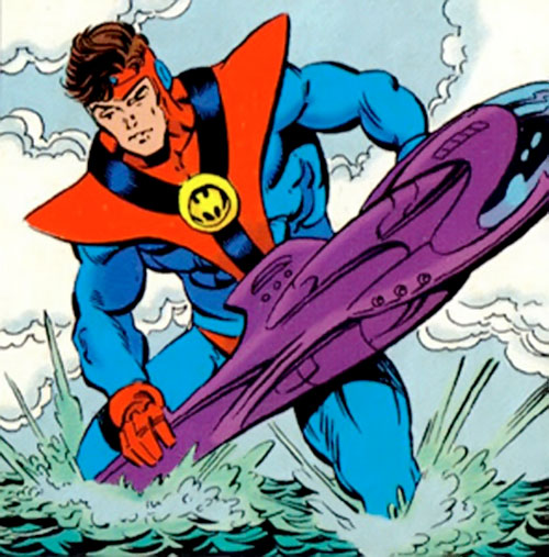Colossal Boy of the Legion of Super-Heroes (pre-boot DC Comics) catches a submarine