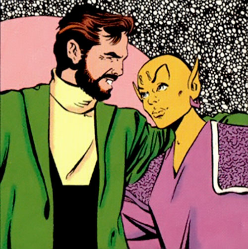 Colossal Boy of the Legion of Super-Heroes (pre-boot DC Comics) with his wife