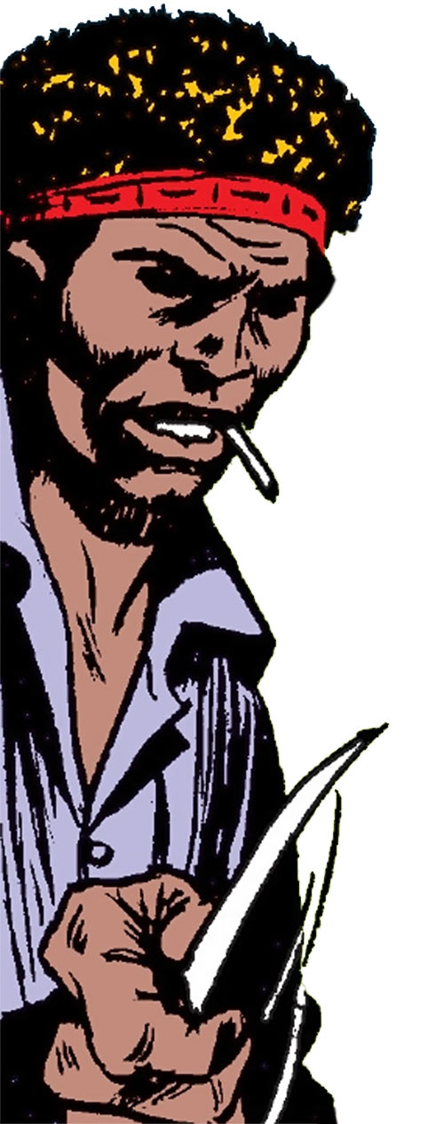 Comanche (Luke Cage enemy) (Marvel Comics) in prison grays