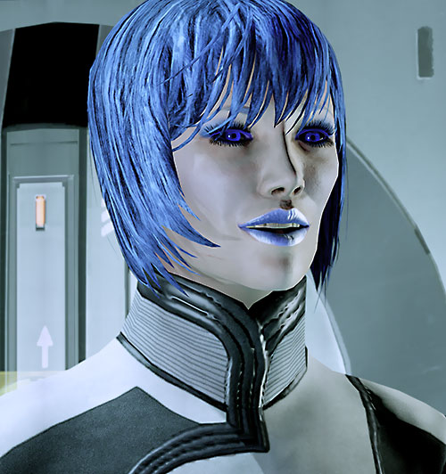 Commander Mari Shepard (Mass Effect 2) laughing