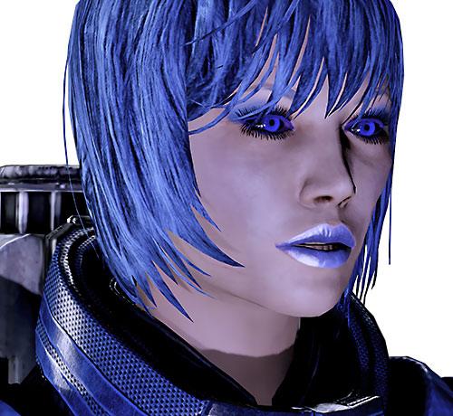 Commander Mari Shepard (Mass Effect 2) face closeup