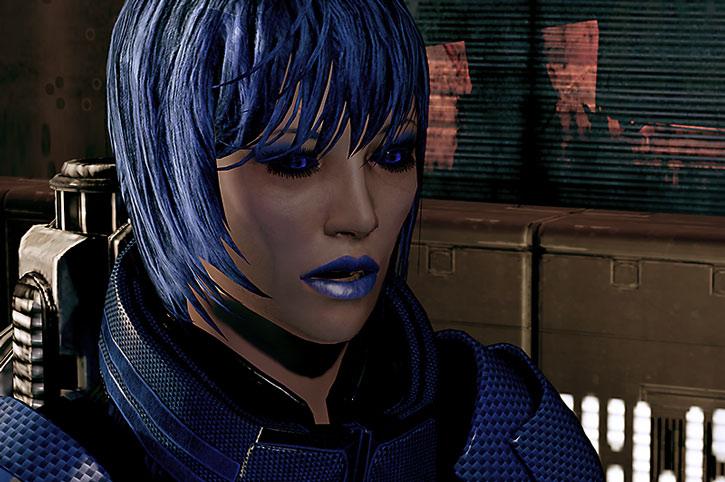 Commander Mari Park-Shepard face closeup