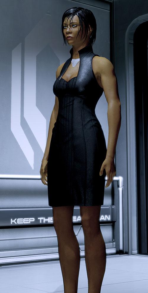 Commander Shepard (Mass Effect 2) black mini dress