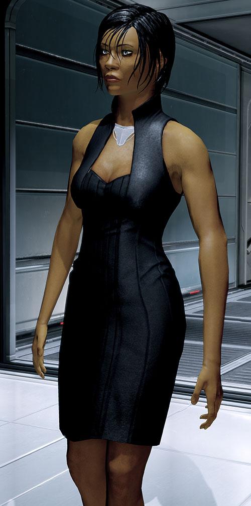 Commander Shepard (Mass Effect 2) black leather dress