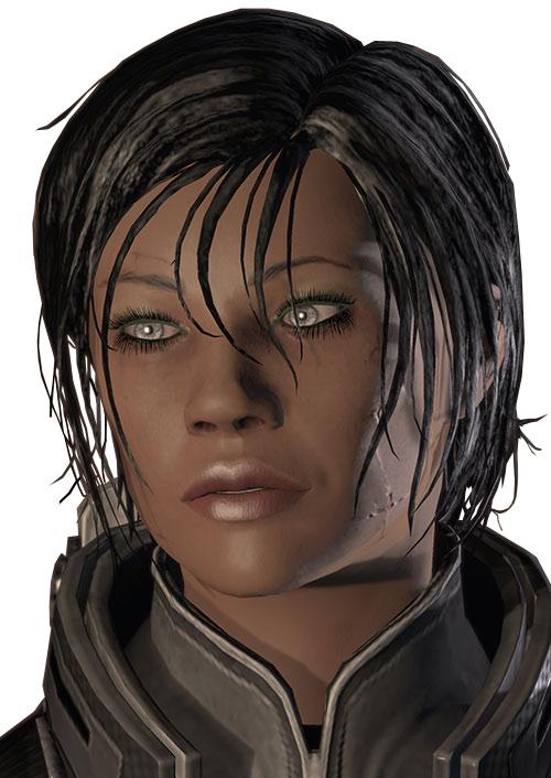 Commander Shepard (Mass Effect 2) silver eyes