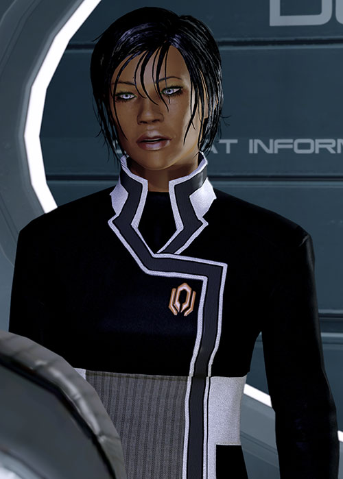 Commander Shepard (Mass Effect 2) talking Cerberus suit