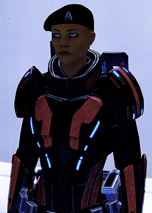Commander Shepard (Mass Effect 2) with beret and Kestrel armor