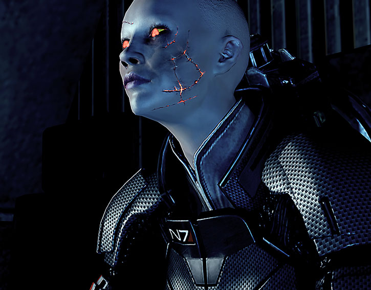 Commander Shepard is evacuated from the Project Lazarus station