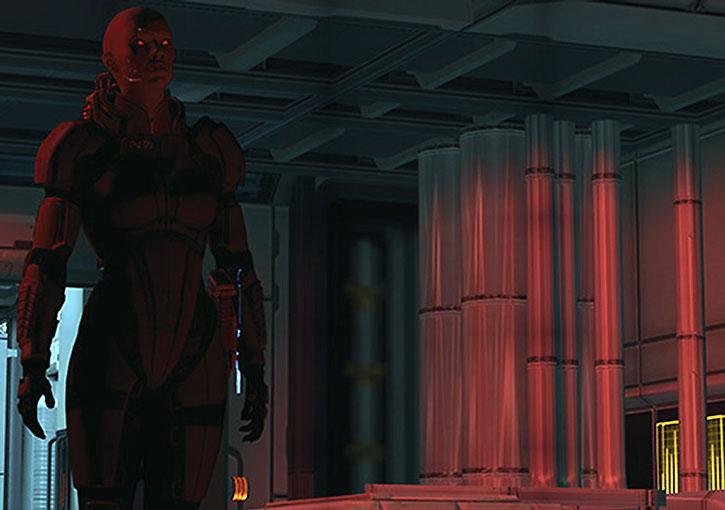 Commander Shepard does the zombie shuffle