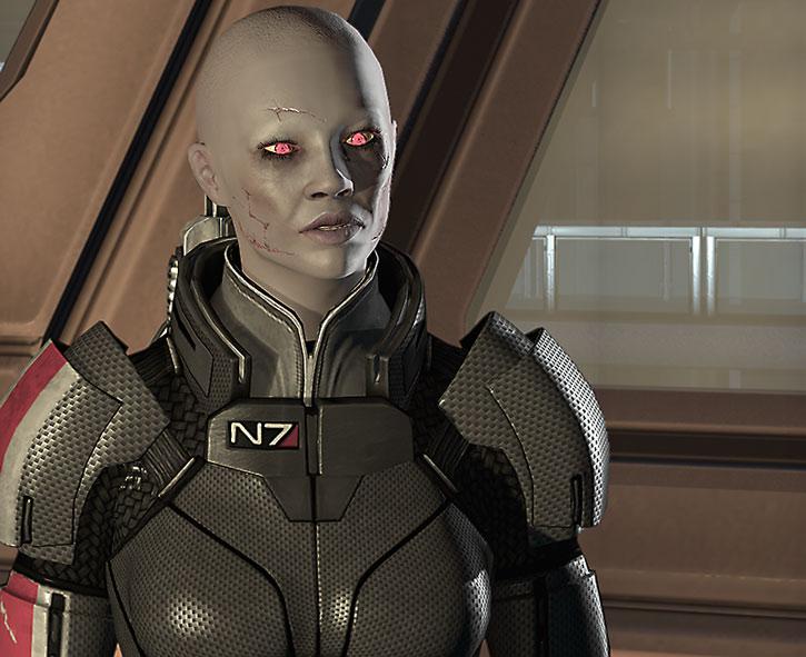 Zombie Commander Shepard looks sceptical